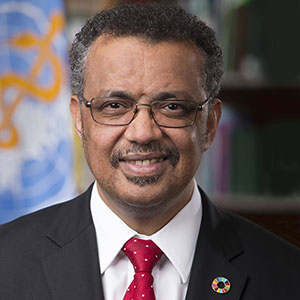 Tedros Adhanom speaking at World Anti-Microbial Resistance Congress