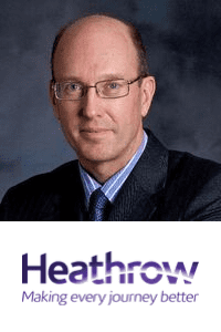 Chris Garton,  COO of  Heathrow Airportspeaking at Aviation Festival