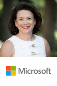 Julie Shainock,  Global Managing Director - Travel and Transportation Industry of  Microsoftspeaking at Aviation Festival
