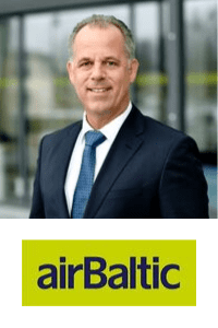 Martin Gauss,  CEO of  Air Baltic speaking at Aviation Festival
