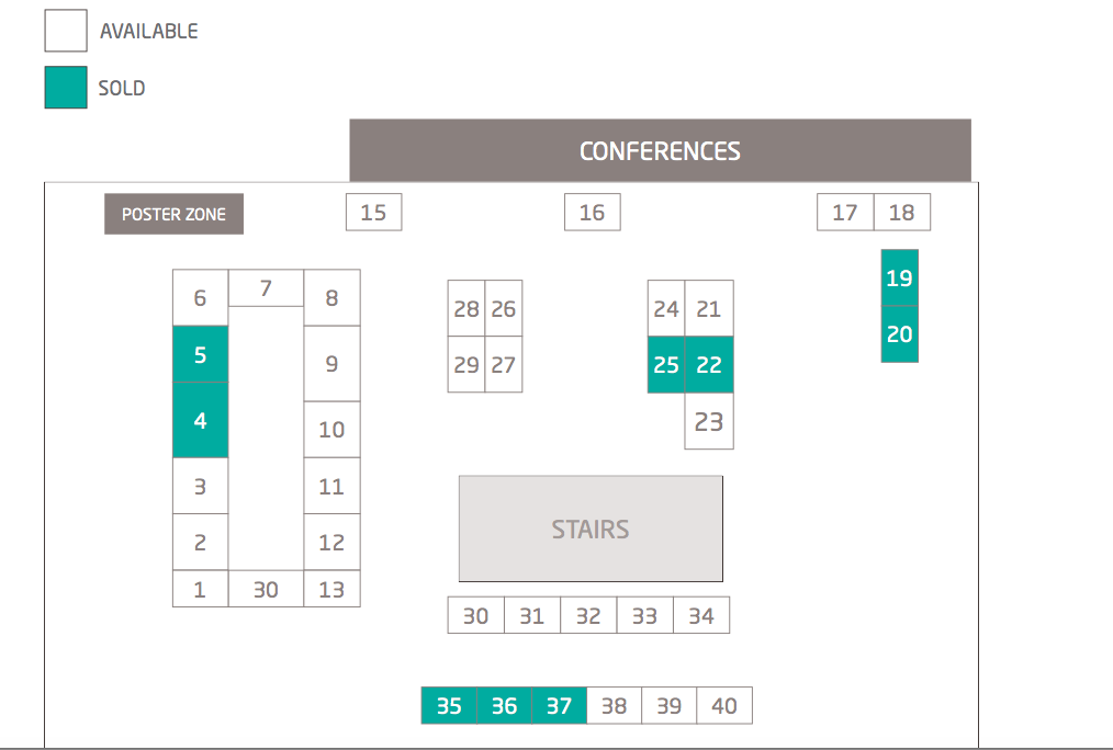 BioData Congress 2018 floorplan