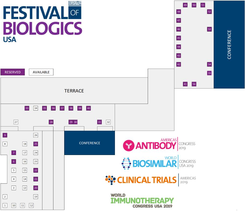 Festival of Biologics US Floor Plan