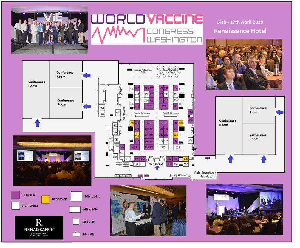 World Vaccine Congress Washington 2019 floorplan