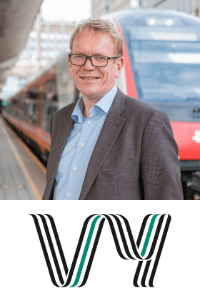 Arne Fosen speaking at the World Rail Festival event in Amsterdam, Netherlands
