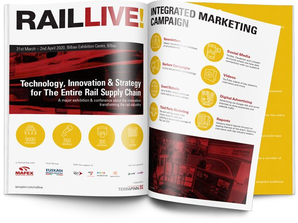 Booklet image of the Rail Live event brochure