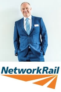 Andrew Haines speaking at the Rail LIVE conference and exhibition in Madrid, Spain