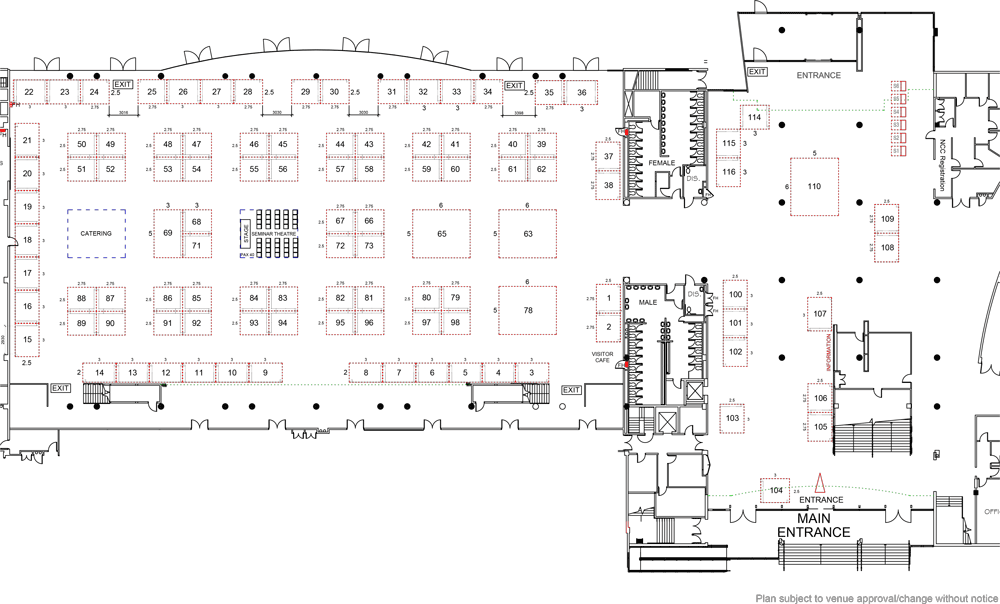 Tech in Gov 2020 floorplan