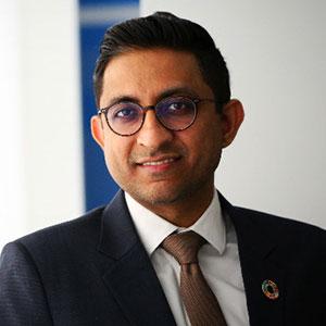 Nitin Spara speaking at Telecoms World Asia