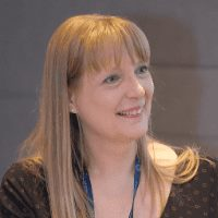 Rachelle Peterson speaking at Telecoms World Middle East