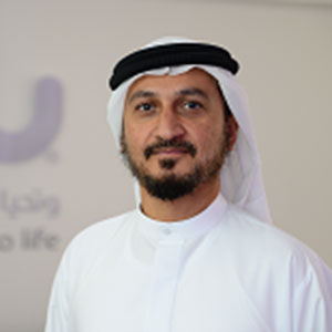 Saleem Alblooshi speaking at Telecoms World Middle East
