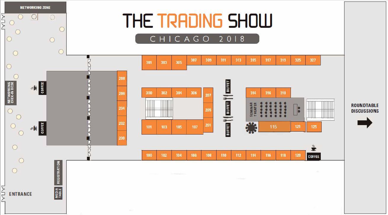 Trading Show Chicago 2018 - floor plan