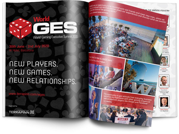 WGES 2020 sponsorship brochure, World Gaming Executive Summit,WGES, Gaming summit, gaming