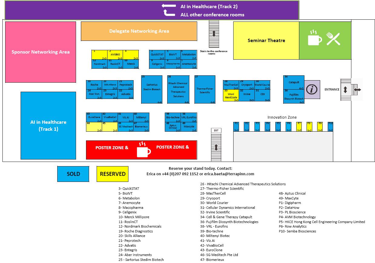 World Advanced Therapies & Regenerative Medicine Congress 2018 floorplan