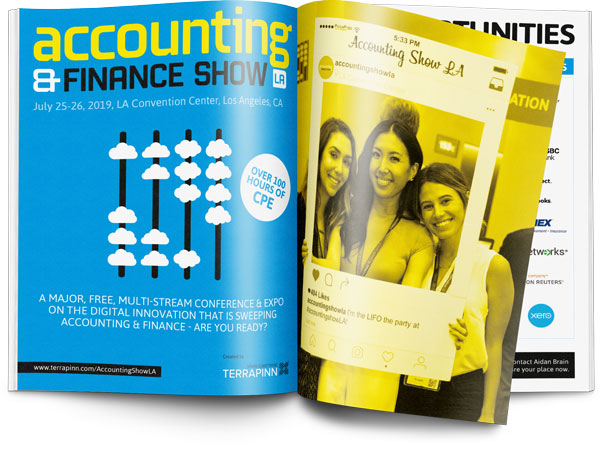 The Accounting & Finance Show 2019 sponsorship brochure