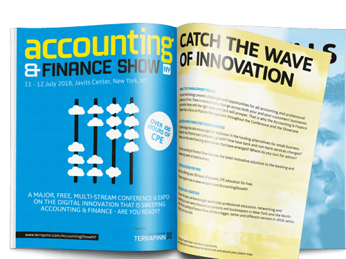 The Accounting & Finance Show 2017 sponsorship brochure