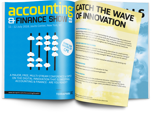 The Accounting & Finance Show 2017 sponsorship brochure