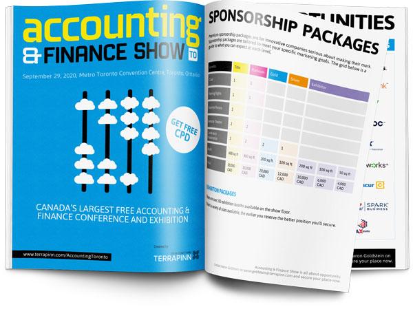The Accounting & Finance Show 2020 sponsorship brochure
