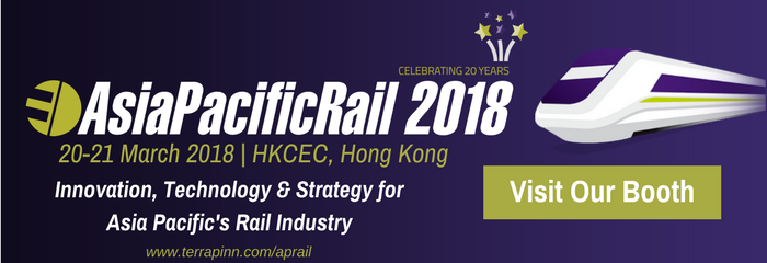 Event banner for sponsors and exhibitor at Asia Pacific Rail 2018