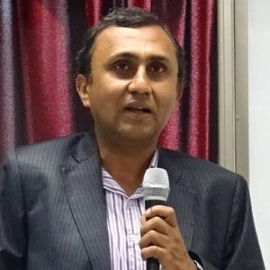 Gaurav Agarwal speaking at Asia Pacific Rail