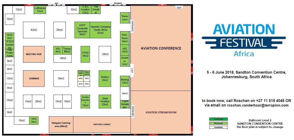 Aviation Festival Africa - 2018 Floorplan