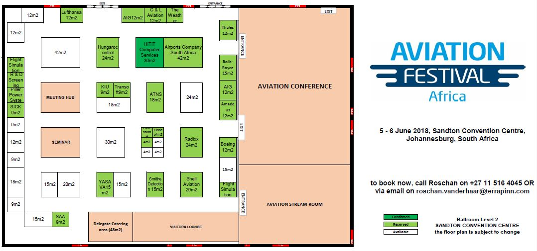 Aviation Festival Africa - 2018 Floorplan