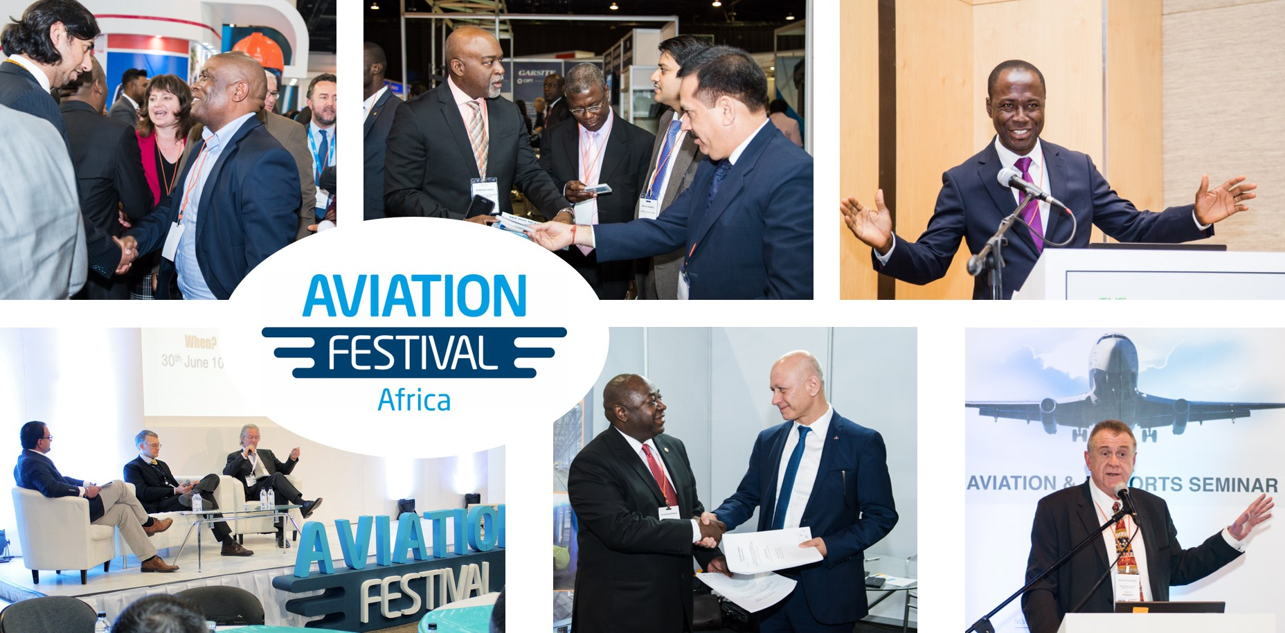 Aviation Festival Africa collage of Images