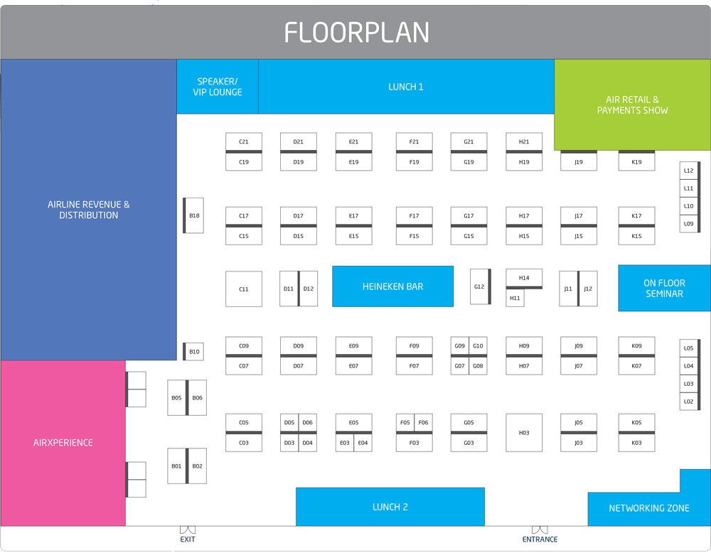 Aviation Festival Asia 2020 Floorplan
