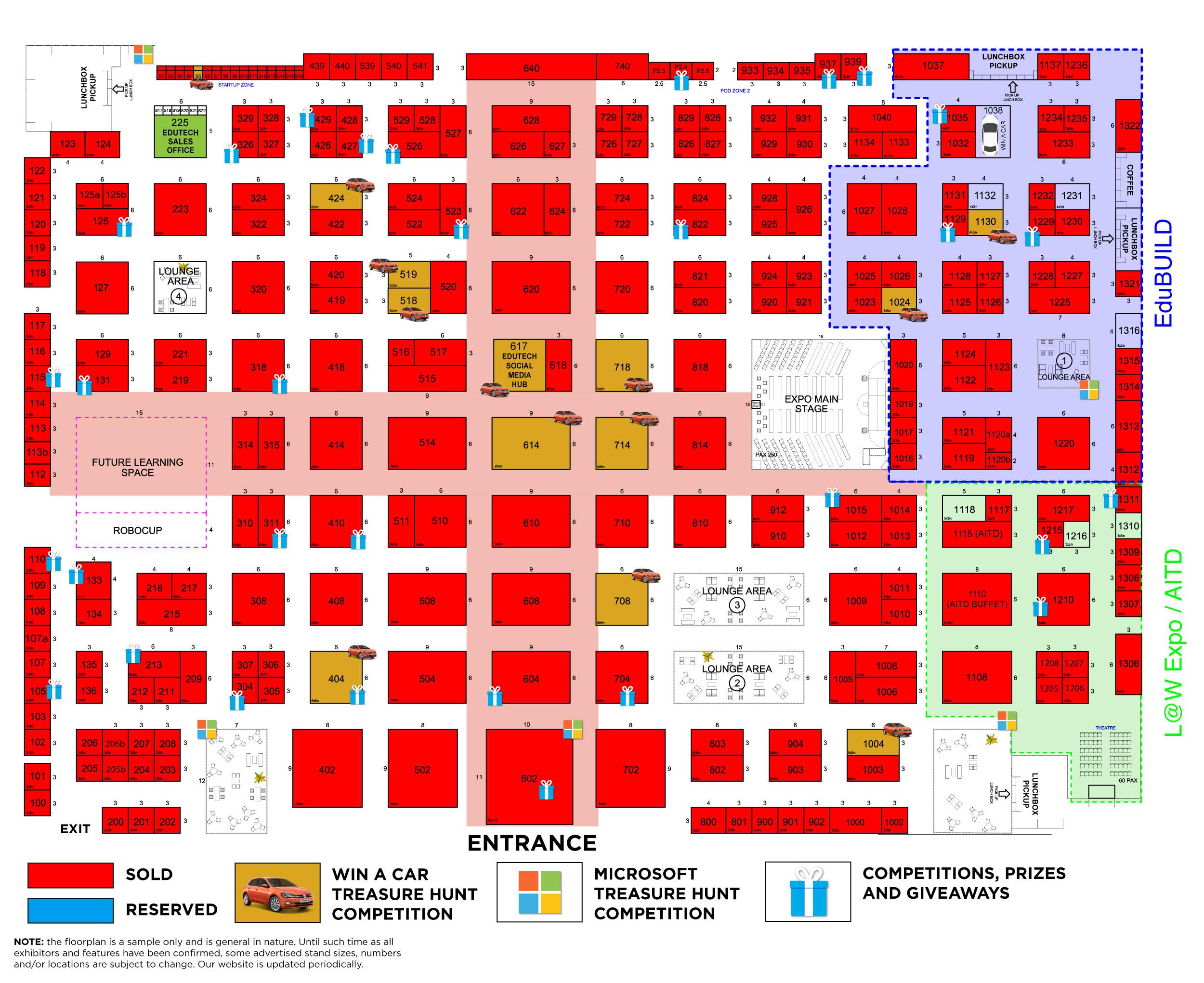 EduTECH 2018 Floorplan