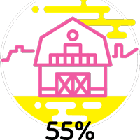 55% increase in barn bookings