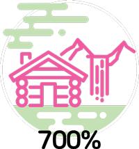 700% increase in nature lodge bookings