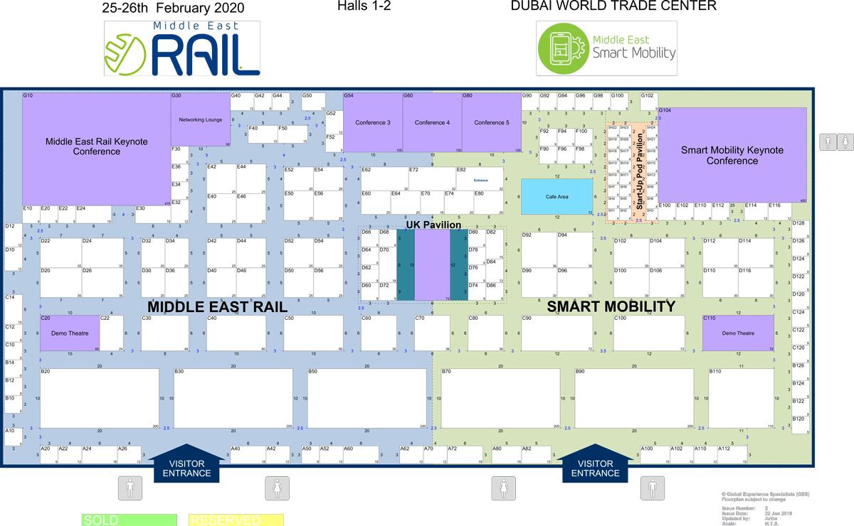 Middle East Rail 2019 Floorplan