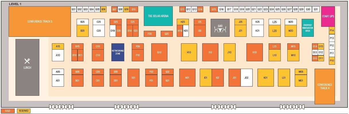 The Solar Show Philippines 2018 floorplan