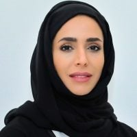 Hend Obaid Al Marri speaking at PropIT Middle East