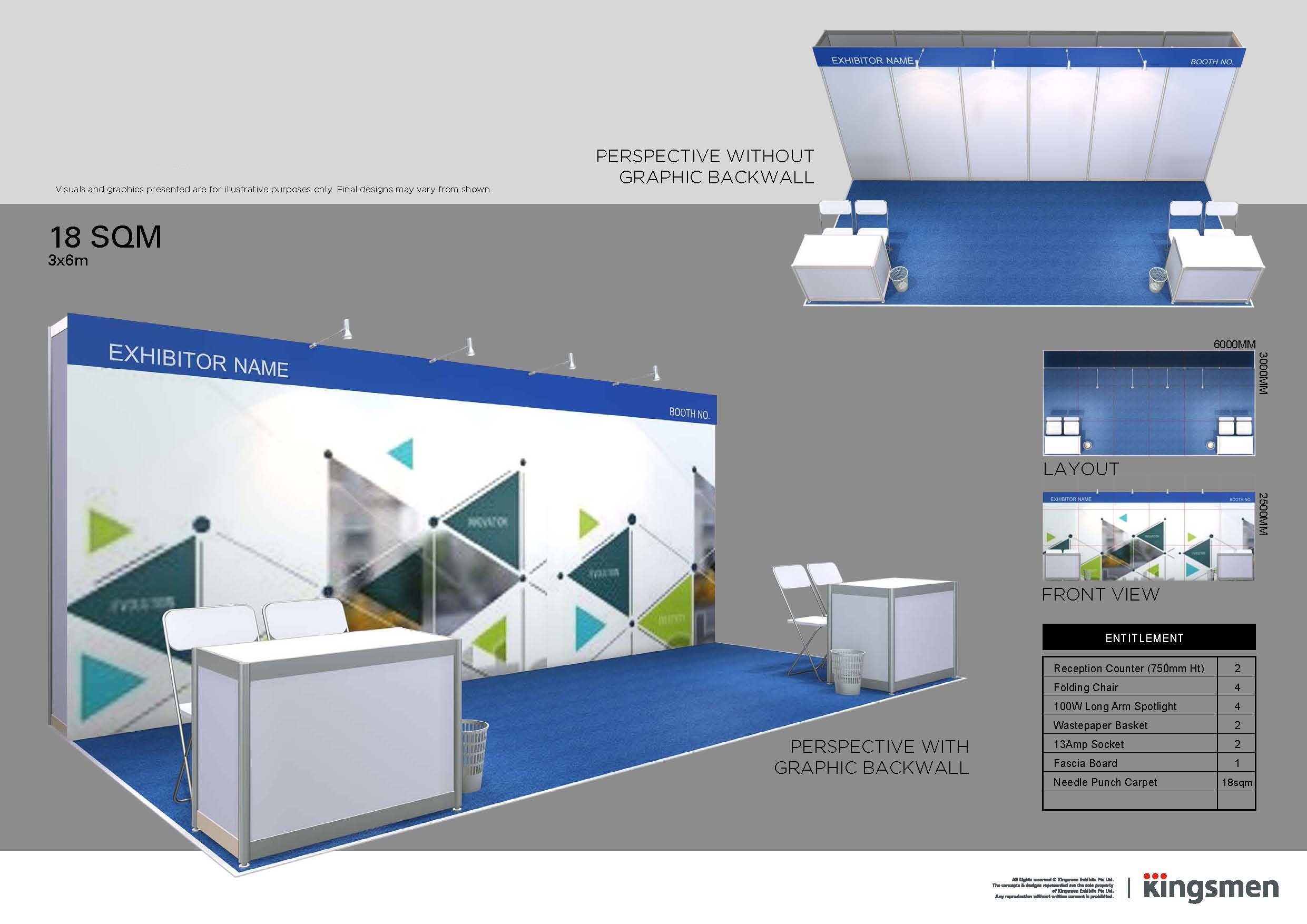 Fascia Board Exhibition Booth : Seamless indonesia exhibitor stands