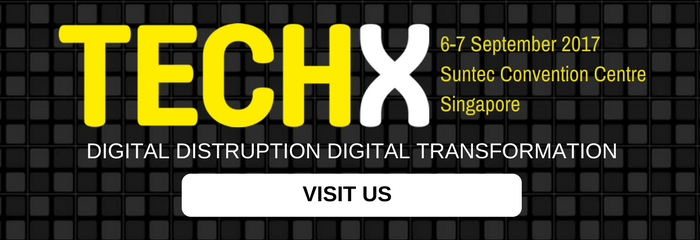 Event banner for sponsors and exhibitor at TECHX Asia 2017