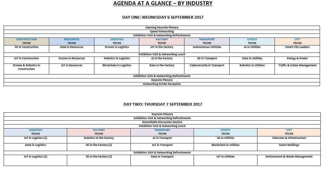 TechX Industry Agenda day 1
