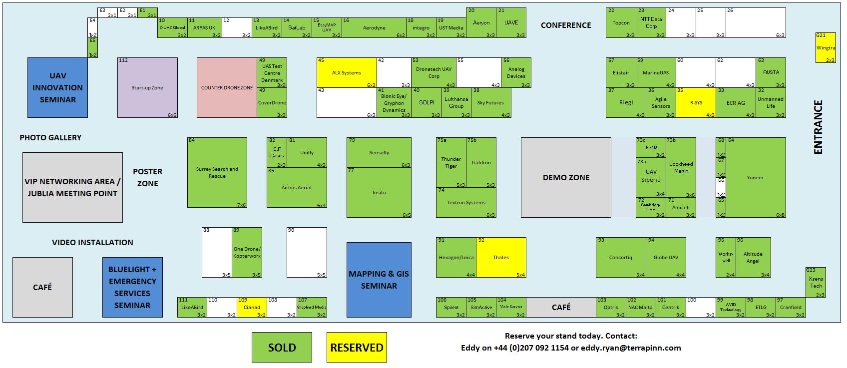 The Commercial UAV Show 2017 Floor Plan