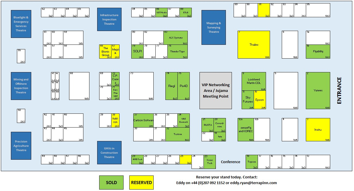The Commercial UAV Show Floor Plan
