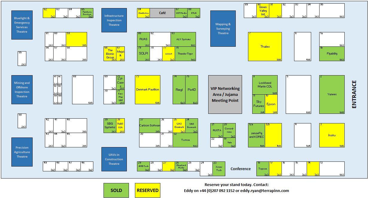 The Commercial UAV Show Floor Plan