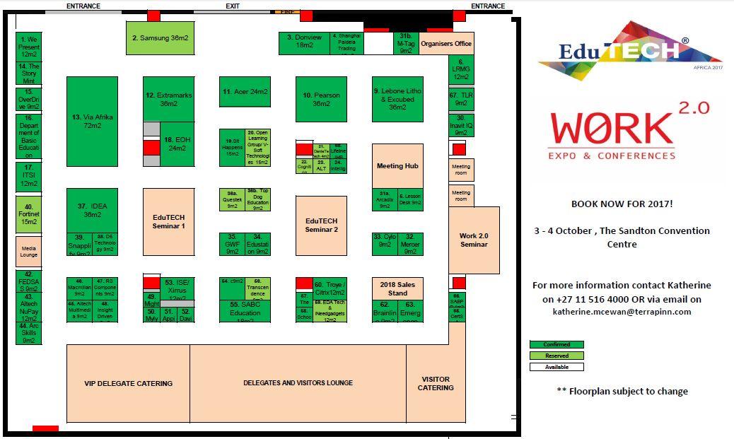 Work 2.0 Africa Floorplan