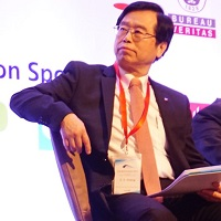 Dr. Cheng-chiou Chang at World Metro & Light Rail Congress & Expo 2018 - Spanish