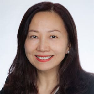 Judy Bei speaking at Seamless Asia