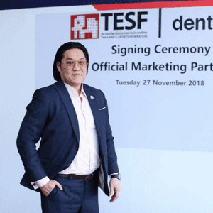 Samart Benjamin Assarasakorn speaking at Telecoms World Asia